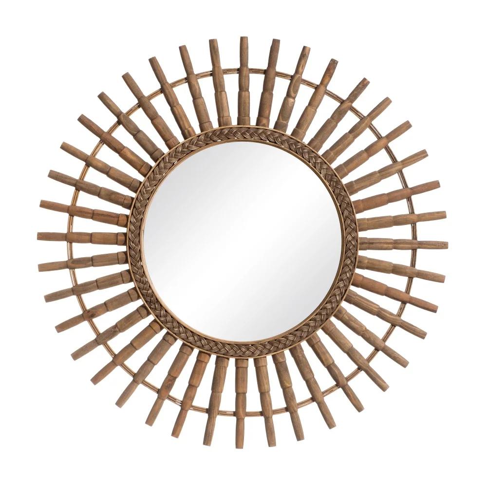 Espejo Timón Bambú