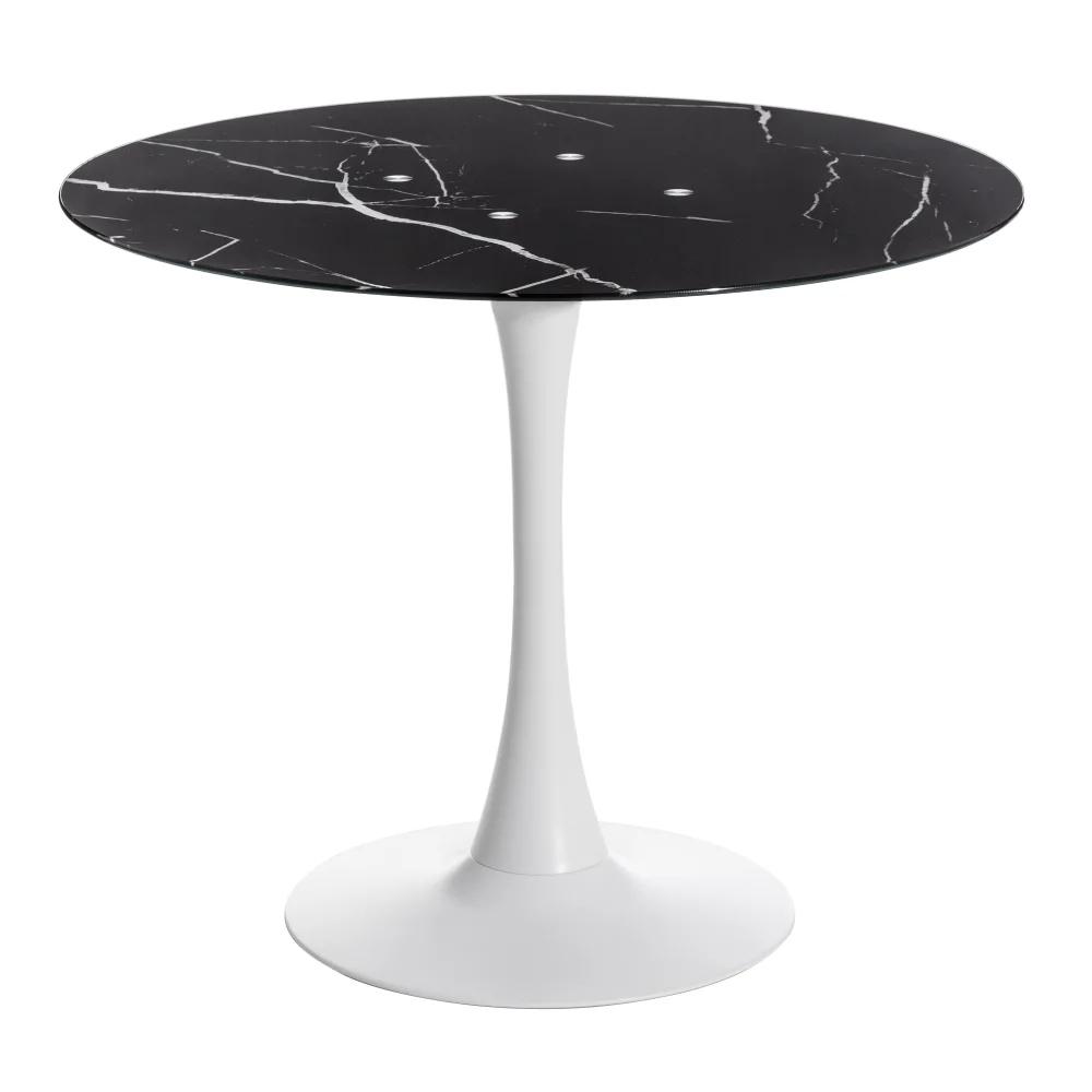 Mesa de Comedor Marmolado Negro