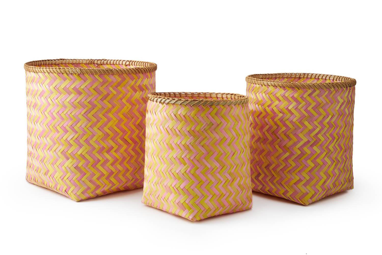 Juego de 3 Cestos Bambú