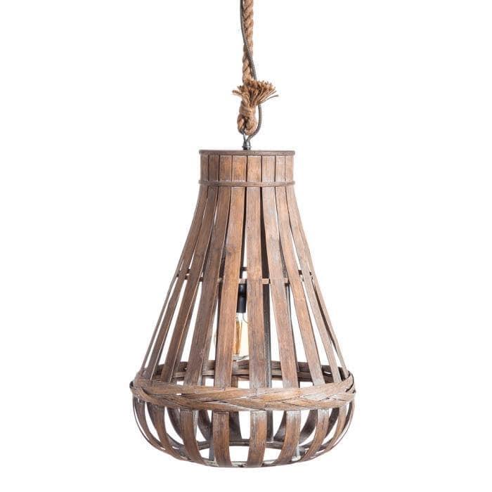 Lámpara de techo Gota de Bambú