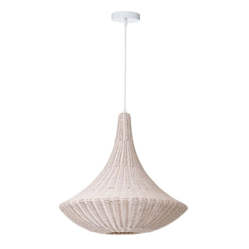 Lámpara Blanco / Ratán