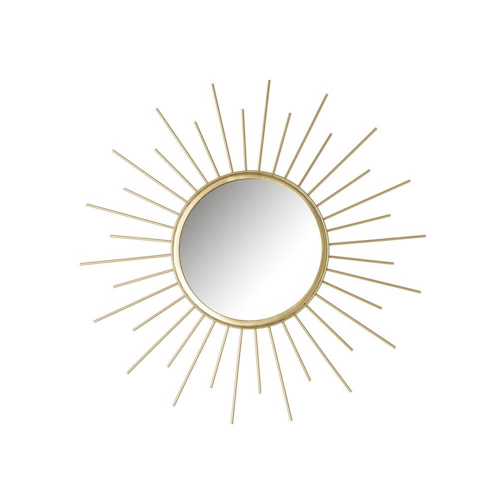 Espejo Sol Metal - Oro 45 cm