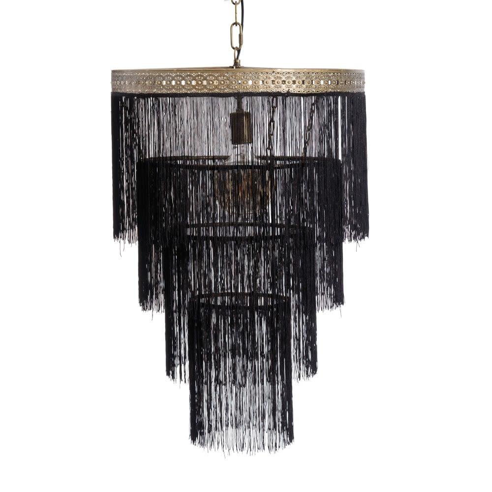 Lámpara Flecos Negro