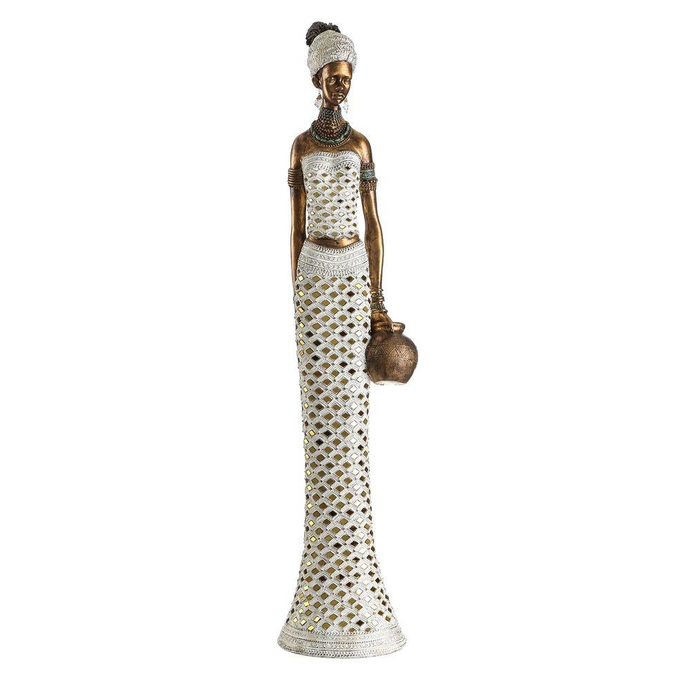 Africana Oro - Blanco 88 cm