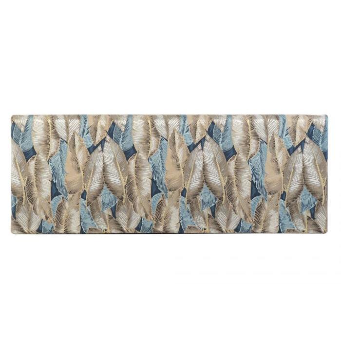 Cabecero Plumas Oro - Azul