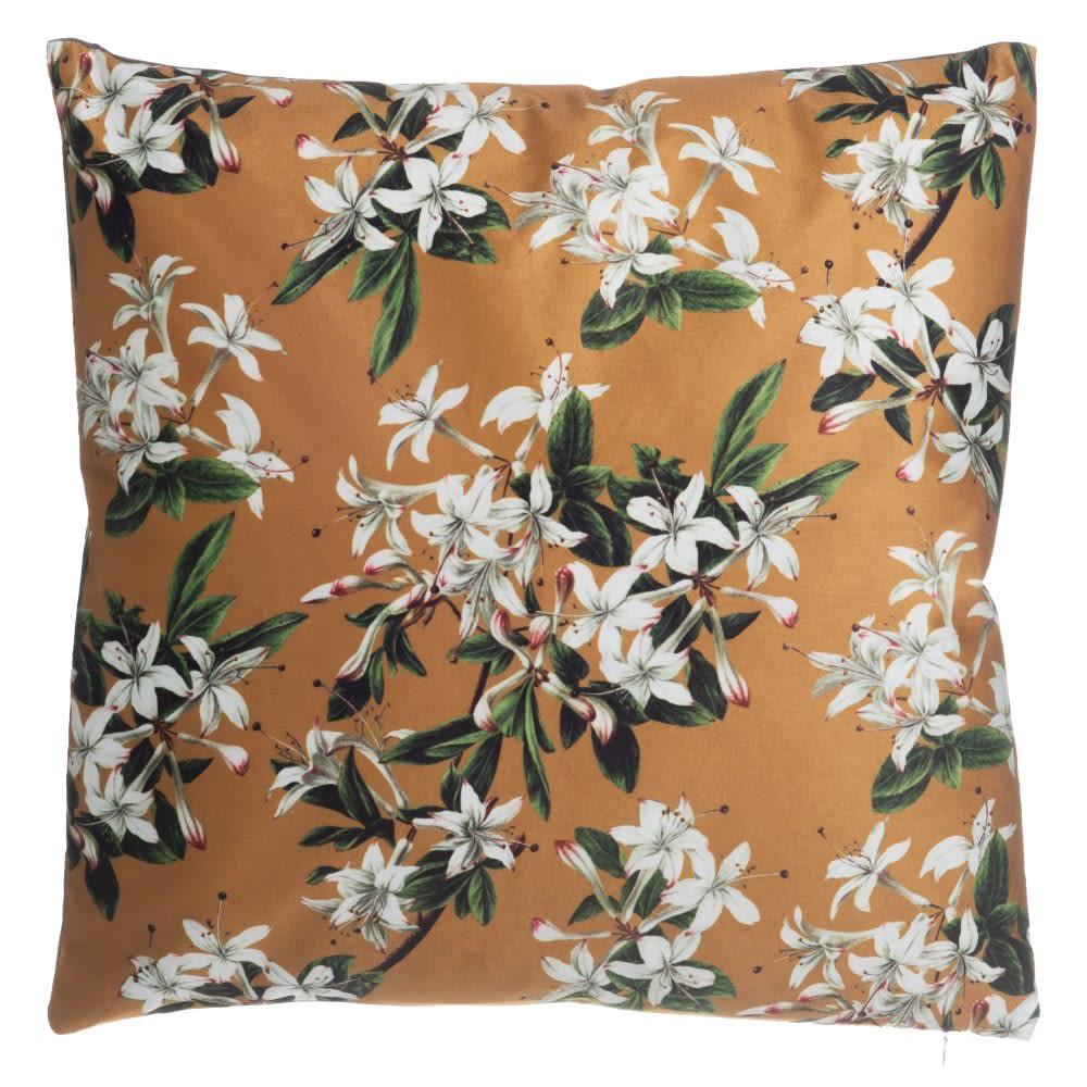 Cojín Floral Mostaza