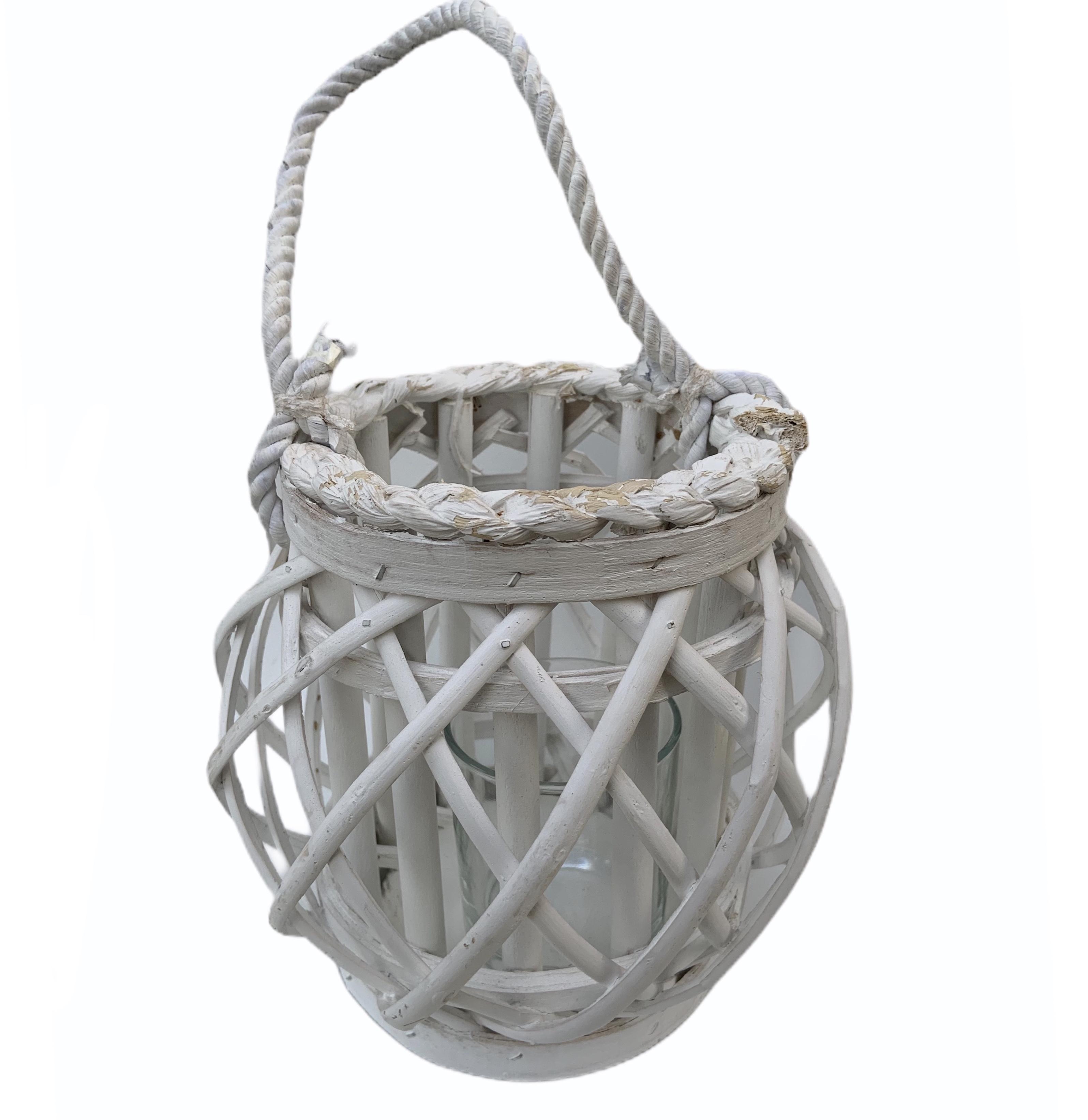 Portavelas Bambú - Cuerda 18 cm