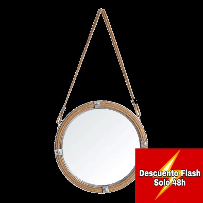 Espejo Colgante Yute 40 cm