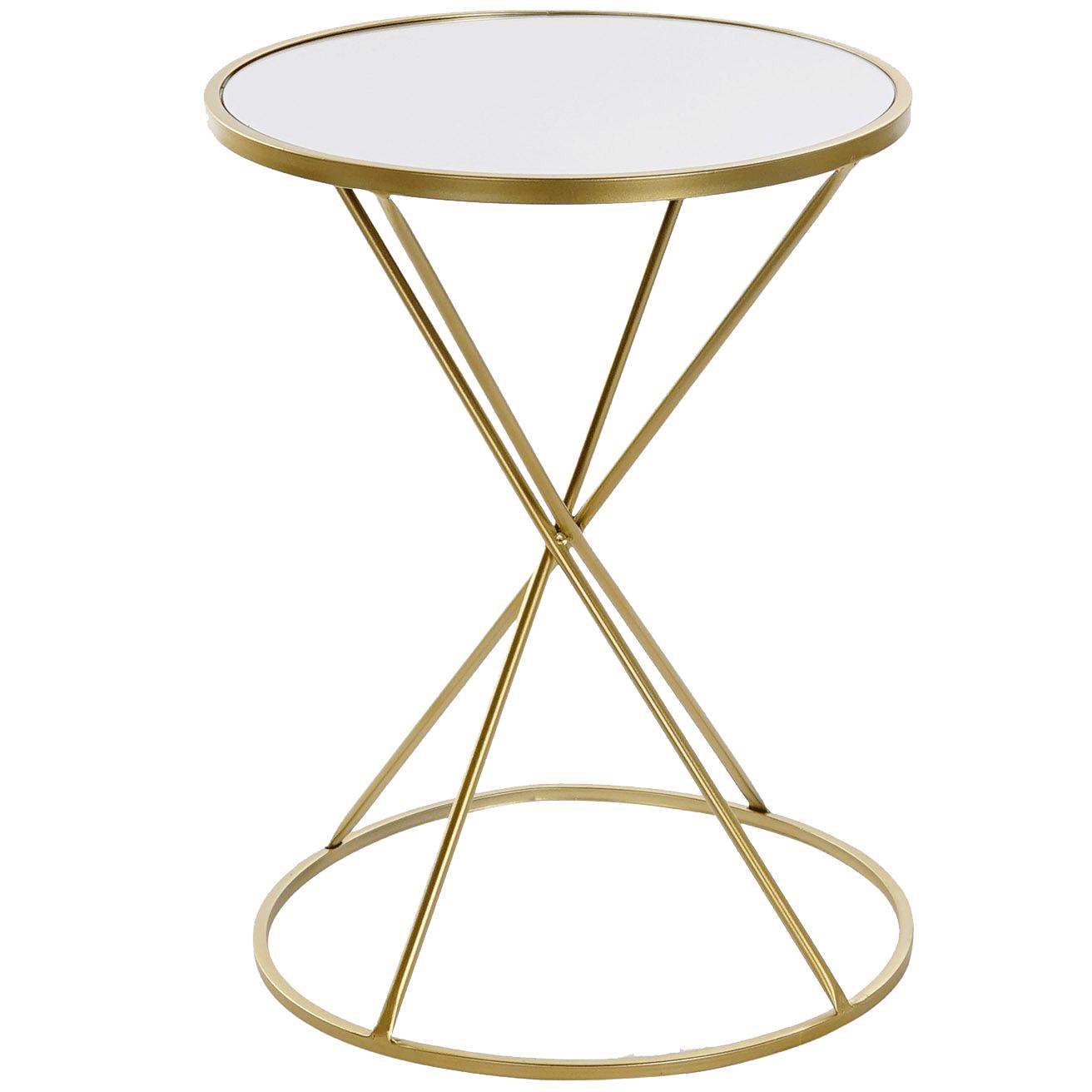 Mesita Auxiliar Oro - Cristal