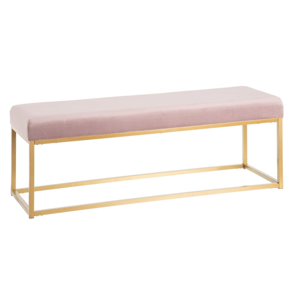 Banqueta Lounge Rosa Claro